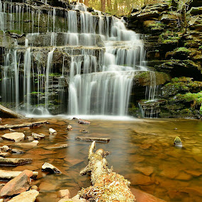 Lower Falls by Travis Houston - Landscapes Waterscapes ( waterfalls, nature, waterscape, waterfall, pennsylvania, nikon )