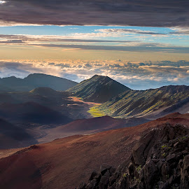 Above and Below by Lance Emerson - Landscapes Mountains & Hills ( san diego, maui, ©lance emerson photography 2015, california, landscape photography, beauty in nature, mt. haleakala )