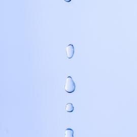 Water Drop by Xióng Xióng - Abstract Water Drops & Splashes ( water, life, waterdrop, blue, singledrop )