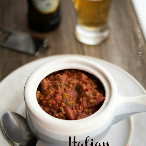 Slow Cooker Italian Beer & Beef Chili