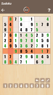 Sudoku puzzle - screenshot