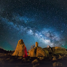Milky Way 3 by Andreea Mihailiuc - Landscapes Mountains & Hills ( color, stars, colors, andreea loredana mihailiuc, night, milky way, galaxy )