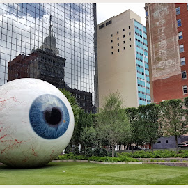 World's Largest Eye by Victor Sanchez - Instagram & Mobile Android ( sculpture, body parts, dallas, large, eye )