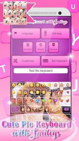 Cute Pic Keyboard with Smileys 3.0 screenshot 2090738