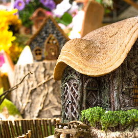 Fairy cottage  by John Haswell - Novices Only Objects & Still Life ( doors, life, mystical, window, cottage, ornament, fairy, door, still, windows, house, bokeh, aperture )