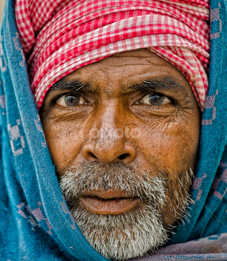 Framed Soul by Arup Acharjee - People Portraits of Men ( india, indian man, people, bearded man, man, portrait, asian )
