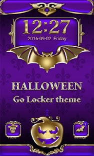 Halloween Go Locker theme - screenshot