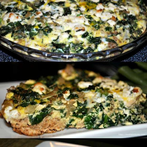 Kale and Egg Quiche with Panko Walnut Crust