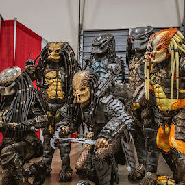 Run! by Mike Crosson - People Street & Candids ( predator, cosplay, person, comicon, convention, costume )