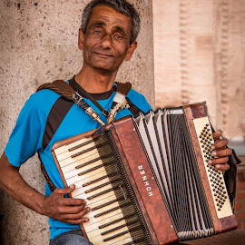 Man Playing Accordion  by Matt Shell - People Musicians & Entertainers ( cologne, accordion, koln, musician, germany )