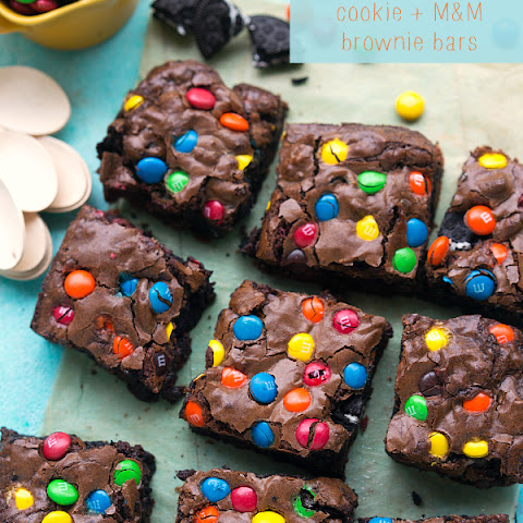 M&M Brownie and Cookie Bars