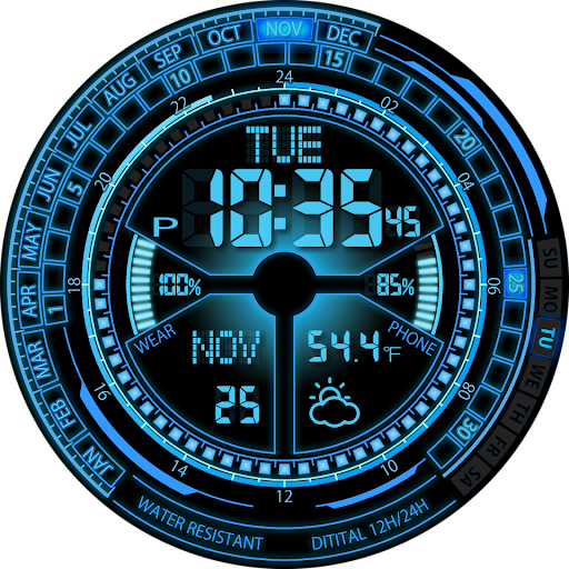 V02 WatchFace for Android Wear - screenshot