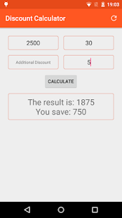 Discount Calculator - screenshot