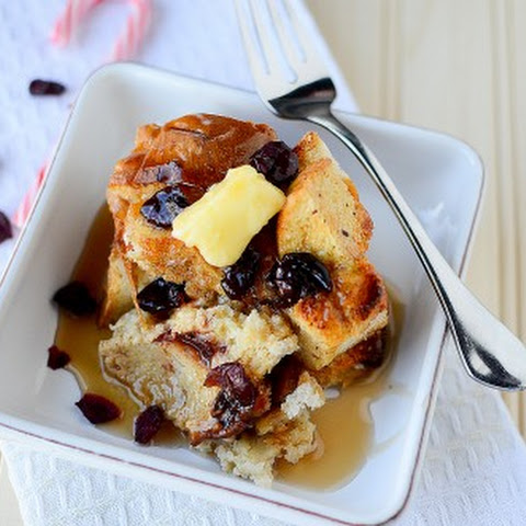 Eggnog and Cranberry Crock Pot French Toast