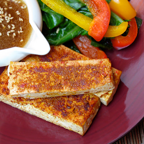 Healthy 5-Spice Tofu with Ginger-Lime Dressing