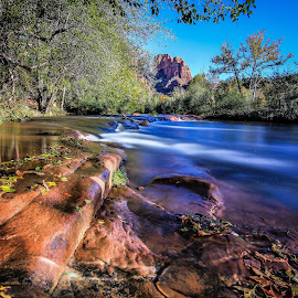 Oak Creek Sedona by Craig Rowtham - Landscapes Travel ( water, crescent moon ranch state park, creek, arizona, forest, travel, sedona, oak creek )
