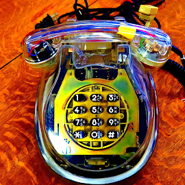 Phones by Sergio M - Artistic Objects Antiques ( neon phone, classic phones, antique photgraphy, artistic photography, vivid, old objects, vivid colors, vivid shots, artistic objects, phone shots, old phones, antiques )