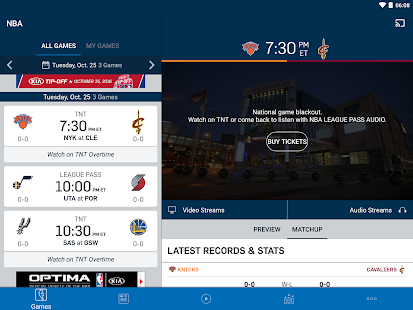 NBA for Lollipop - Android 5.0
