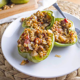 Vegan Stuffed Peppers with Barley
