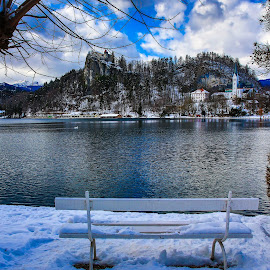 Lake  Bled by Arif Sarıyıldız - Landscapes Travel ( winter, snow, slovenia, bled, lake )