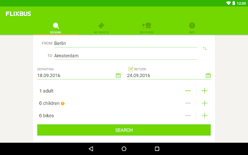 App FlixBus - bus travel in Europe apk for kindle fire