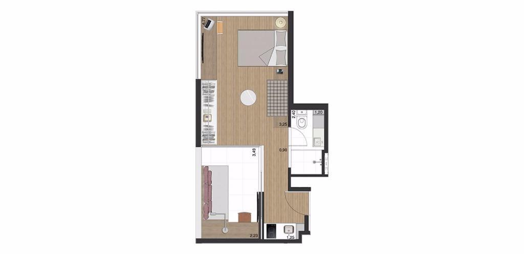Studio 1a - 35 m²