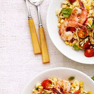 Summer Orzo with Shrimp