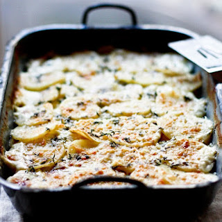 Parsnip Gratin with Gruyere and Thyme