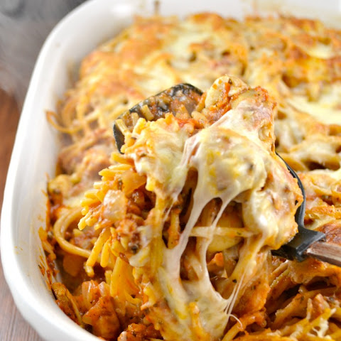 Spicy Vegetarian Baked Spaghetti