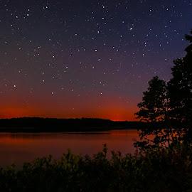 by Paweł Mielko - Landscapes Starscapes ( mazuria, night photography, night view, night scene, lake, night, night shot, nightscapes, landscpae, nightscape )
