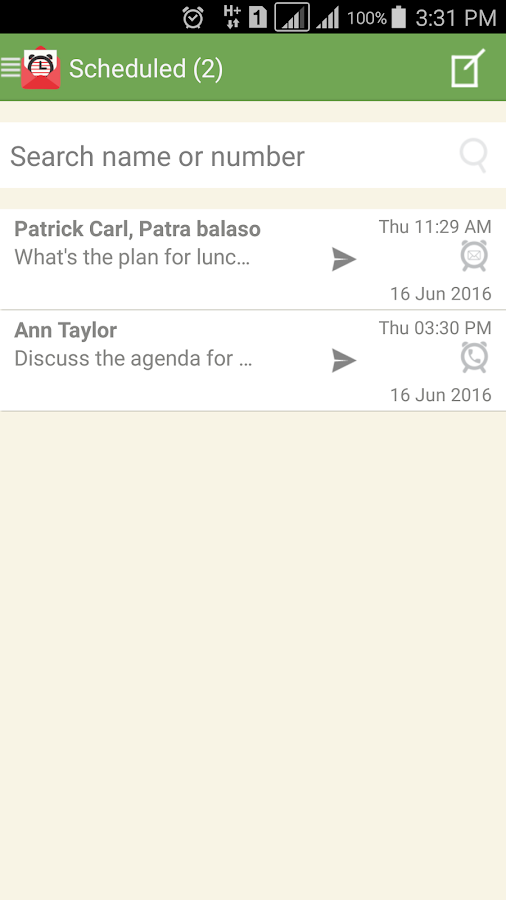 SMS-Call Scheduler Pro Screenshot 1