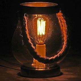 Hurricane Lamp by Daryl Peck - Artistic Objects Still Life ( novice, still life, bulb, artistic, lamp, object, objects, light, hurricane )