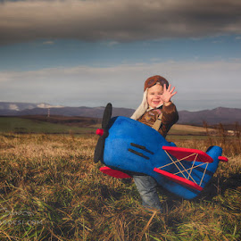 Fly with ME! 2. by Diána Barócsi - Babies & Children Toddlers ( child, aviator, airplane, pilot, smile, toddler, boy )