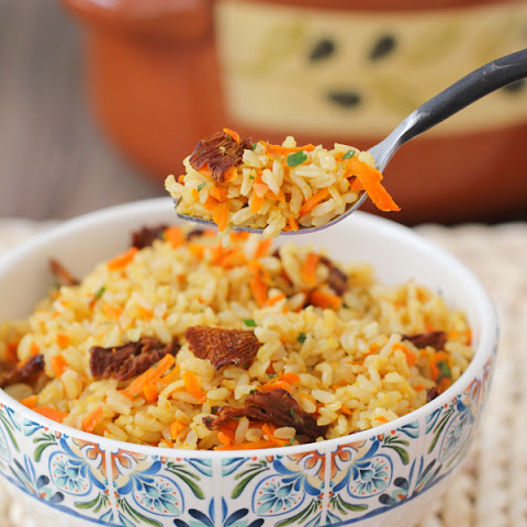 Carrot and Mushroom Brown Rice