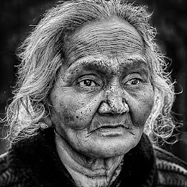 Old Lady2 by Sanjit Chowdhury - Black & White Portraits & People