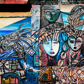 Mural in Havana by Chris Seaton - City,  Street & Park  Street Scenes ( colorful, urban art, street art, street scene, scenic, mural, havana, design,  )