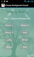 Screenshot of Simply Being Guided Meditation