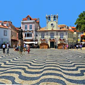 Cascais, Portugal by Francis Xavier Camilleri - City,  Street & Park  Street Scenes