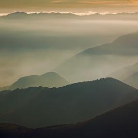 Calm sunset by Lilian Iatco - Landscapes Sunsets & Sunrises ( sunset, good, travel, italy, alps )