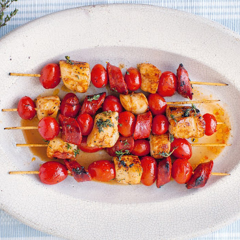 Scallop Skewers With Chorizo