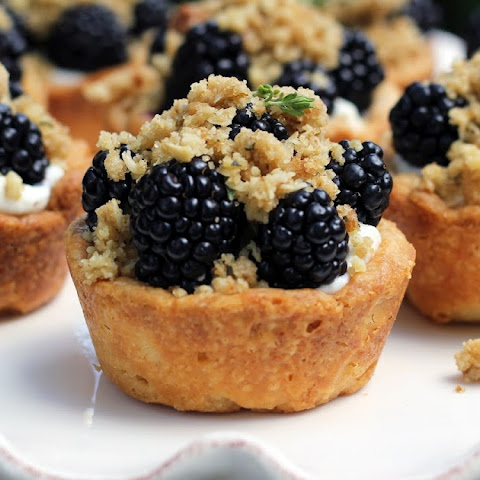 Blackberry Mini Pies with Walnut-Thyme Streusel