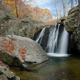 Kilgore Falls in Autumn by Tim Devine - Landscapes Waterscapes ( autumn, waterfall, maryland, kilgore falls )