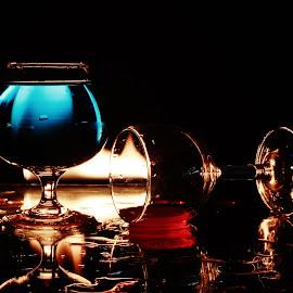 Fallen 7 44 by Peter Salmon - Artistic Objects Glass