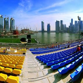 Singapore F1 Podium by Alit  Apriyana - City,  Street & Park  Vistas