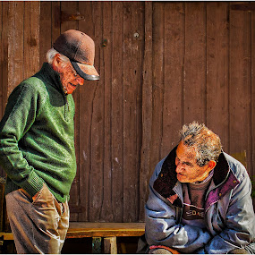 2 men talking by Stephen Hooton - People Portraits of Men ( portugal )