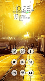 Avenida warm sunshine theme - screenshot
