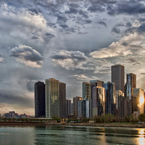 Navy Pier by Cristobal Garciaferro Rubio - Buildings & Architecture Office Buildings & Hotels ( clouds, sky, ssea, illinos, sunshine, chicago, usa )