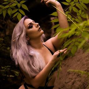 El(f)sea  by Rakesh Malik - People Fashion ( outdoor, pretty, forest, bikini, swimwear, sexy, elf ears, natural light, model, glamour, elf, fashion )
