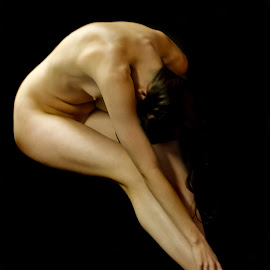 Streched.. by Jean-marc Nehmé - Nudes & Boudoir Artistic Nude ( female, streching, lush, light, shadows )