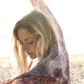 sarong by Daniel Jamieson - People Portraits of Women ( blonde, girl, summer, beach, sun, portrait )